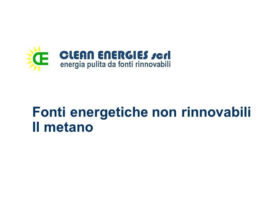 Fonti energetiche non rinnovabili Il metano