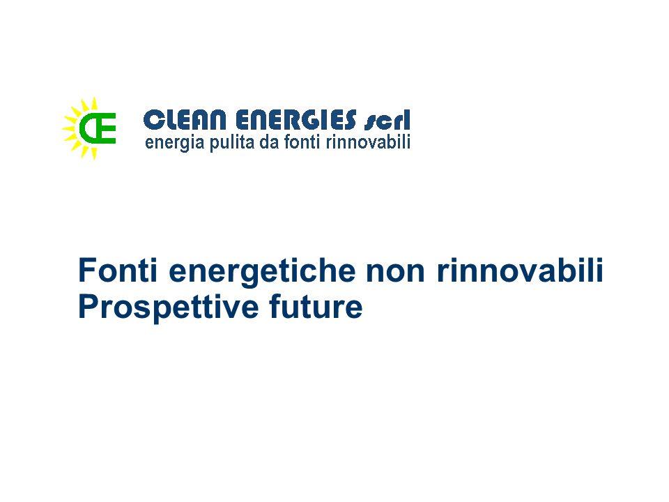 Fonti energetiche non rinnovabili Prospettive future
