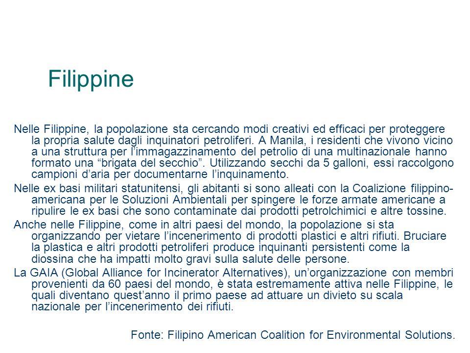 Filippine Nelle Filippine, la popolazione sta cercando modi creativi ed efficaci per proteggere la propria salute dagli inquinatori petroliferi. A Man