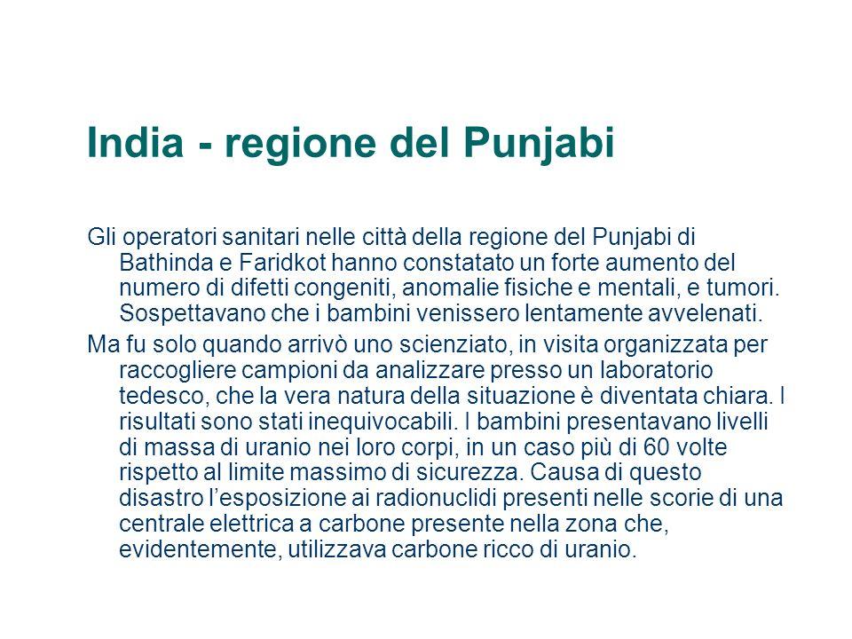 India - regione del Punjabi Gli operatori sanitari nelle città della regione del Punjabi di Bathinda e Faridkot hanno constatato un forte aumento del