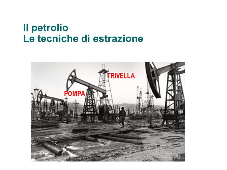 Il petrolio Le tecniche di estrazione