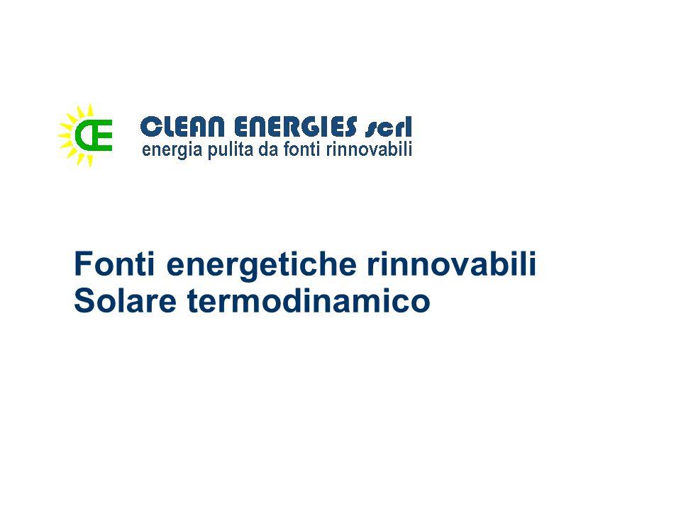 Solare termodinamico I sistemi solari termodinamici producono energia elettrica dalla componente termica della radiazione solare.