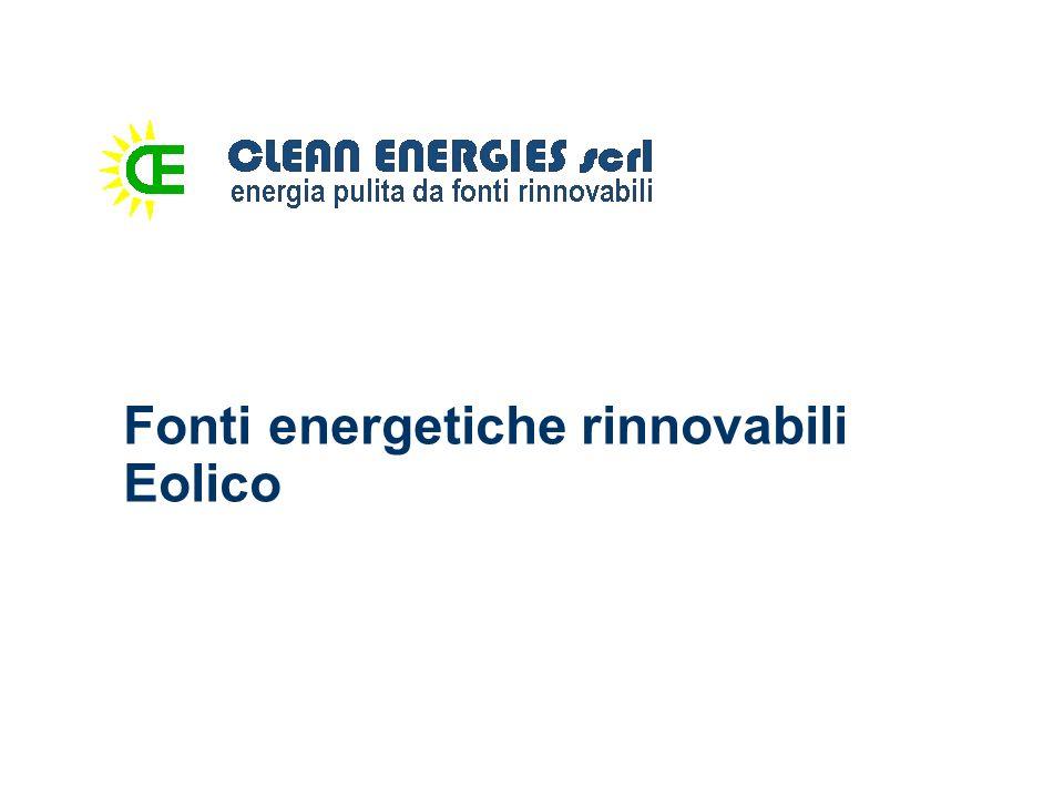 Eolico Le macchine eoliche derivano dai tradizionali mulini a vento e sono costituiti da un rotore, formato da pale fissate da un mozzo e progettate per sottrarre al vento parte della sua energia cinetica, per poi trasformarla in energia meccanica e infine elettrica.