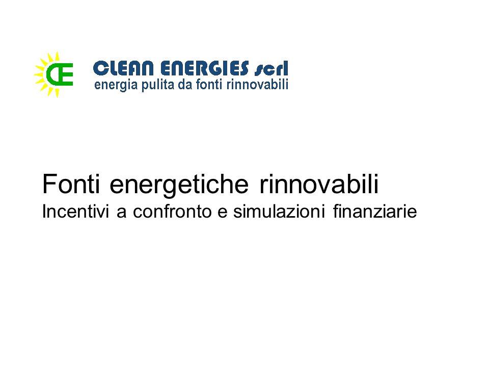 Fonti energetiche rinnovabili Incentivi a confronto e simulazioni finanziarie