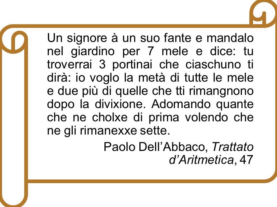 Paolo DellAbbaco, Trattato dAritmetica