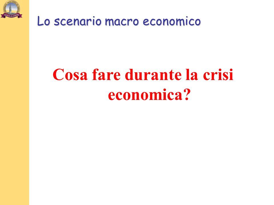 Lo scenario macro economico Cosa fare durante la crisi economica?