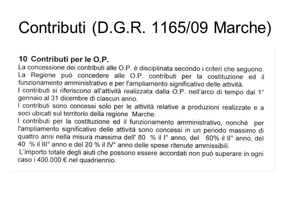 Contributi (D.G.R. 1165/09 Marche)
