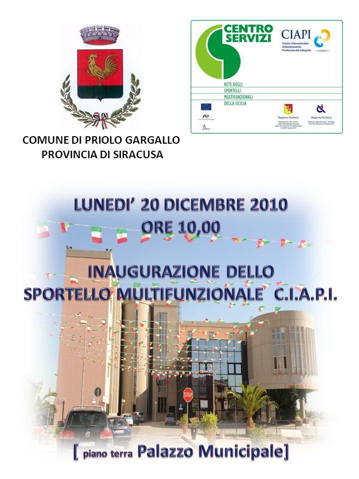 Con lobiettivo di dare ai giovani residenti a Priolo Gargallo una ulteriore e concreta possibilità di formazione professionale è stato siglato laccordo con il C.I.A.P.I.