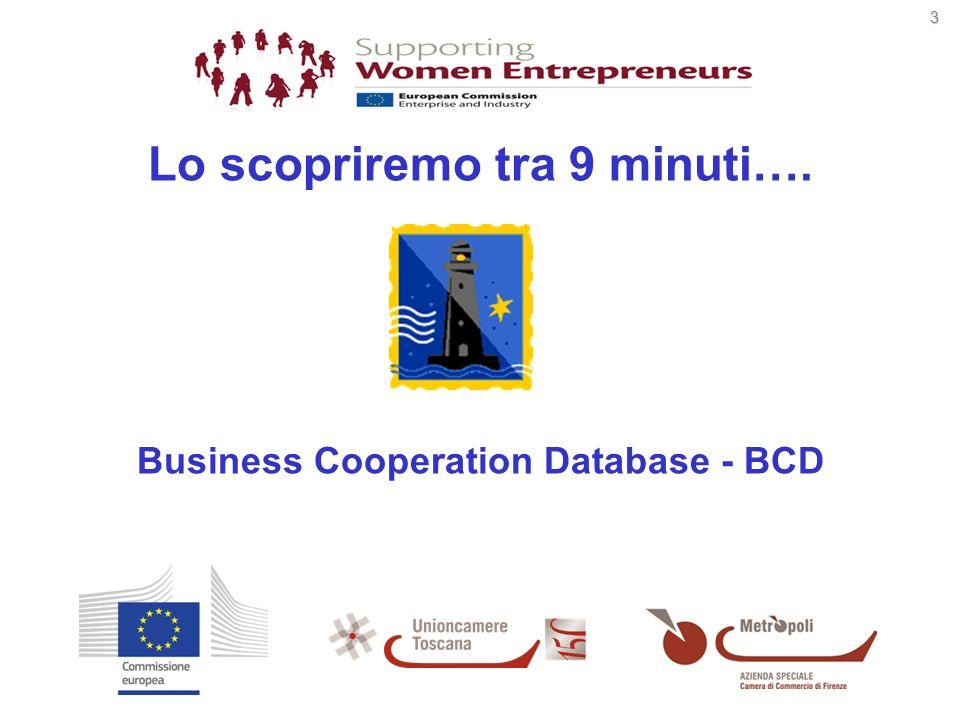 4 www.enterprise-europe-network.ec.europa.eu/index_en.htm BCD: Database della rete Enterprise Europe Network