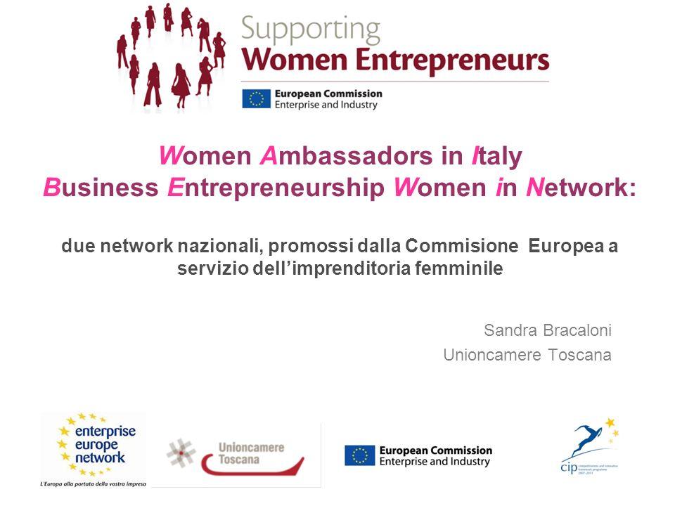 Business Entrepreneurship Women in Network co-finanziato dalla Commissione Europea - Direzione Generale Imprese & Industria Call for Proposal 6/G/ENT/CIP/10/E/N01C21 – European Network of Mentors for Women Entrepreneurs Data avvio del progetto: 1 Settembre 2011 Durata: 24 mesi Conclusione: Agosto 2013