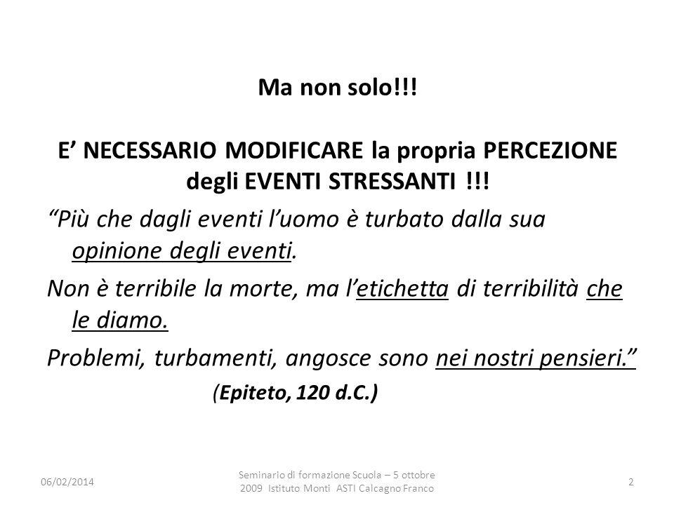 06/02/2014 Seminario di formazione Scuola – 5 ottobre 2009 Istituto Monti ASTI Calcagno Franco 2 Ma non solo!!.