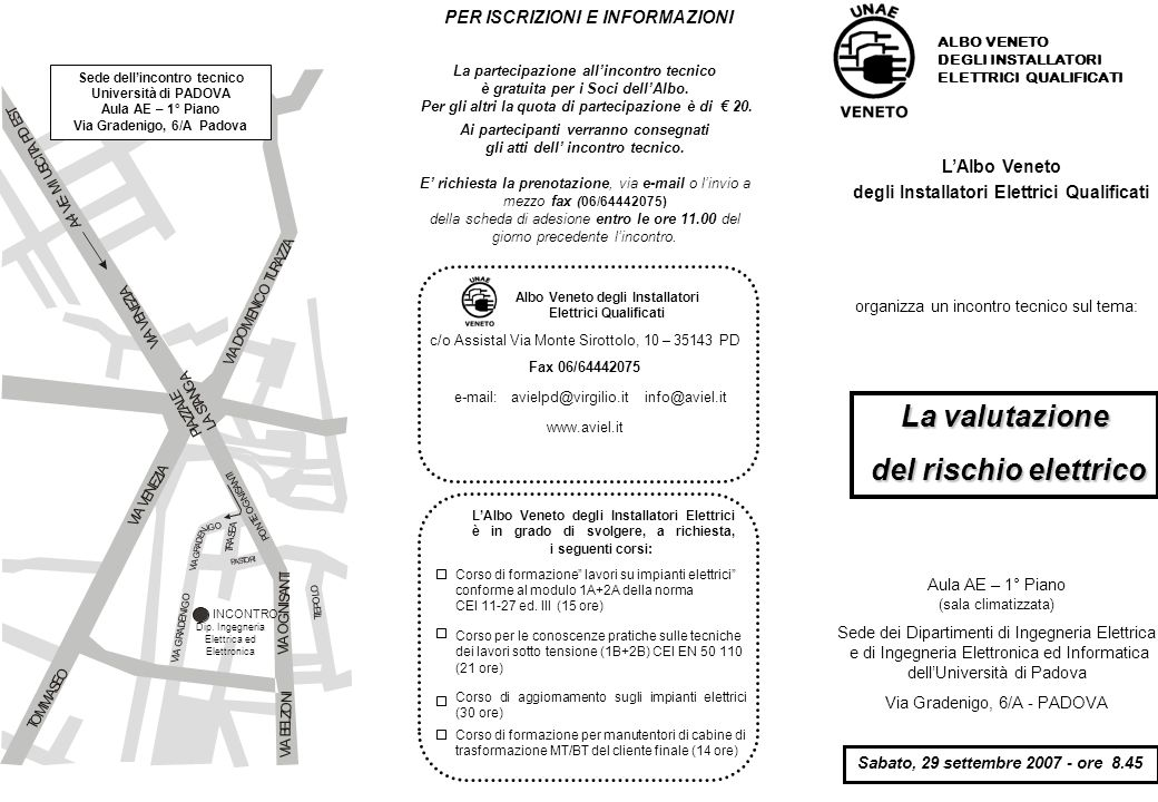 LAlbo Veneto degli Installatori Elettrici Qualificati organizza un incontro tecnico sul tema: ALBO VENETO DEGLI INSTALLATORI ELETTRICI QUALIFICATI La