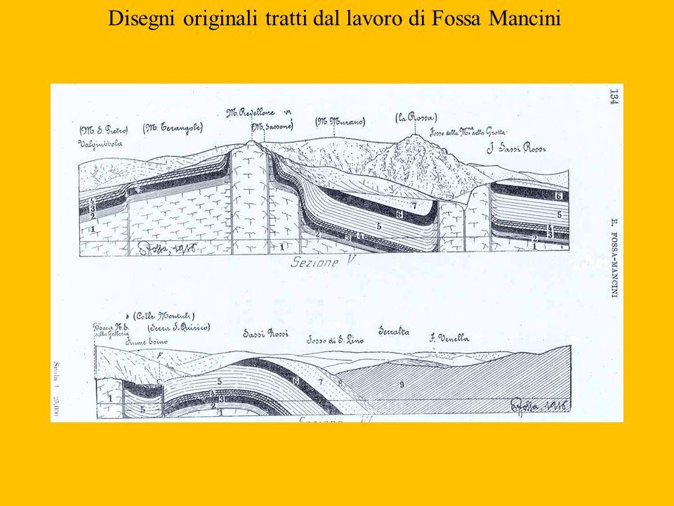 Disegni originali tratti dal lavoro di Fossa Mancini