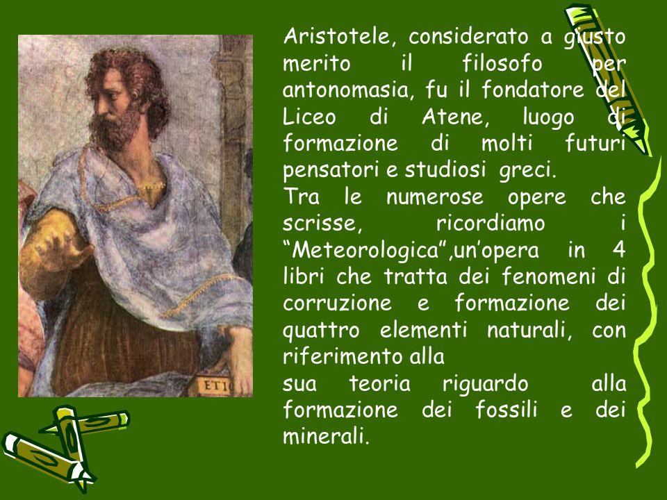 Aristotele, considerato a giusto merito il filosofo per antonomasia, fu il fondatore del Liceo di Atene, luogo di formazione di molti futuri pensatori