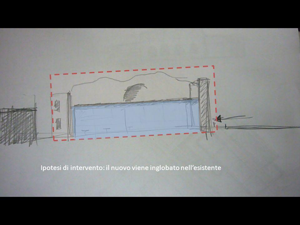 Ipotesi di intervento: il nuovo viene inglobato nellesistente