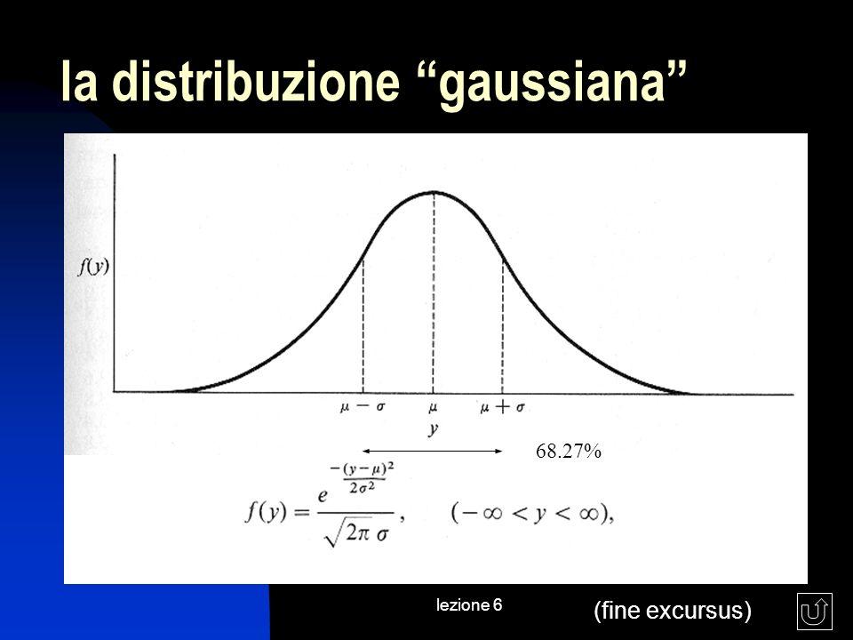 lezione 6 la distribuzione gaussiana 68.27% (fine excursus)
