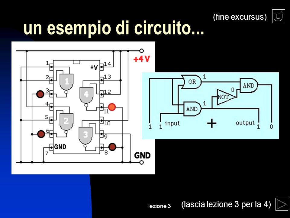 lezione 3 un esempio di circuito... (fine excursus) (lascia lezione 3 per la 4)