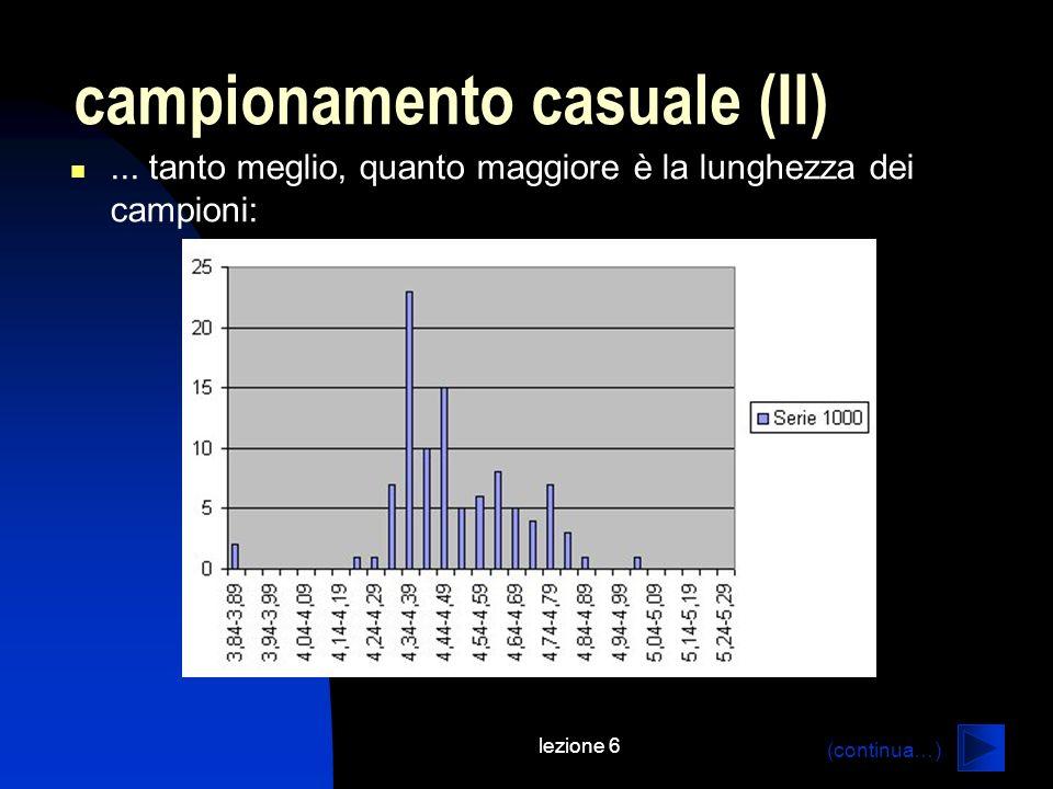 lezione 6 campionamento casuale (II)...