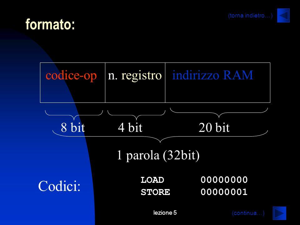 lezione 5 formato: codice-op n.