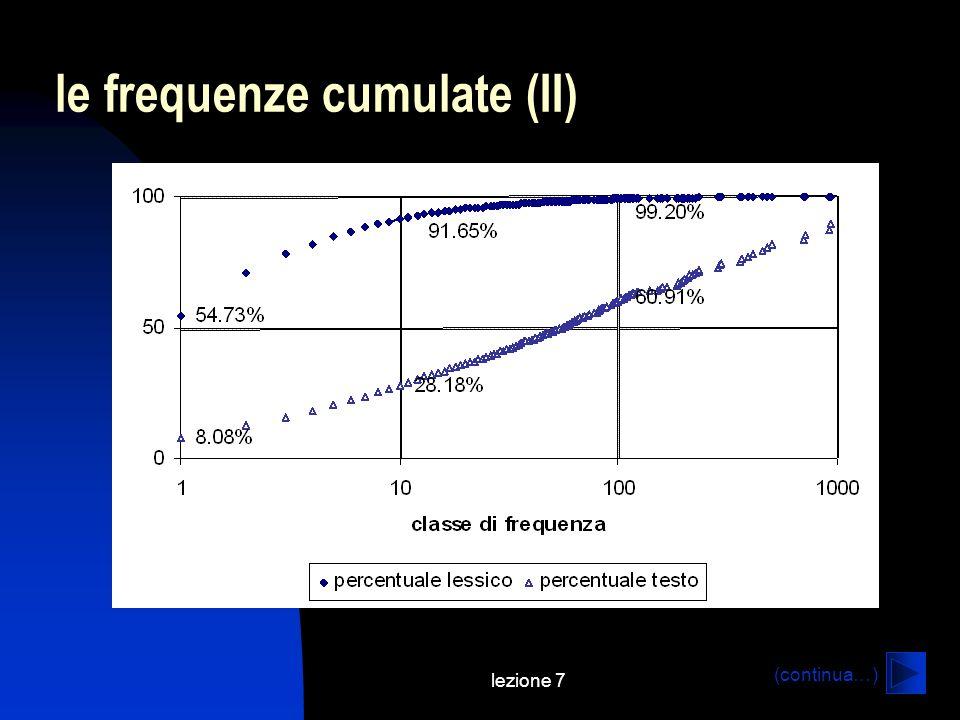 lezione 7 le frequenze cumulate (II) (continua…)