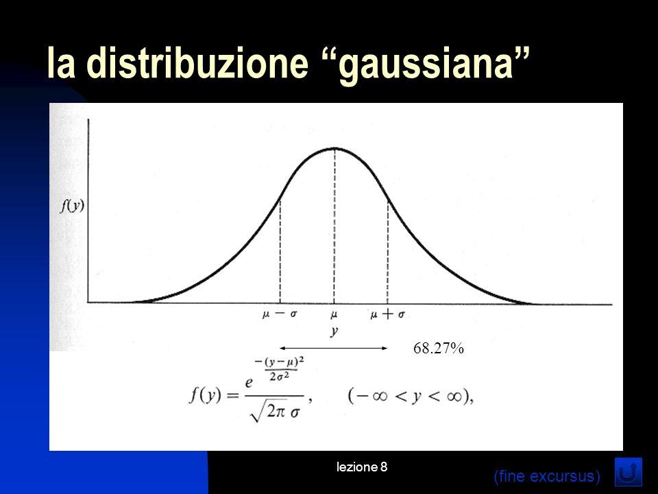 lezione 8 la distribuzione gaussiana 68.27% (fine excursus)