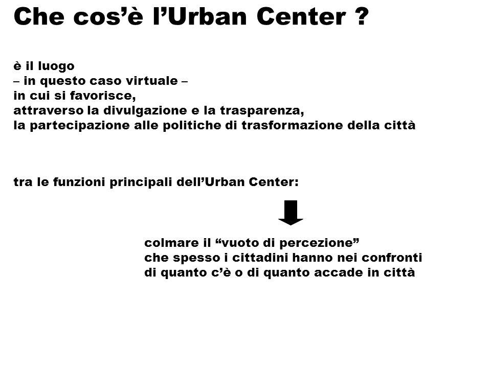 Che cosè lUrban Center .
