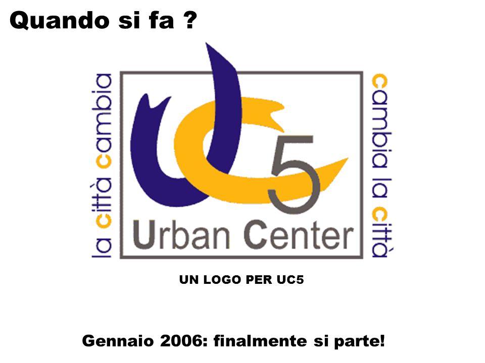 Gennaio 2006: finalmente si parte! UN LOGO PER UC5 Quando si fa