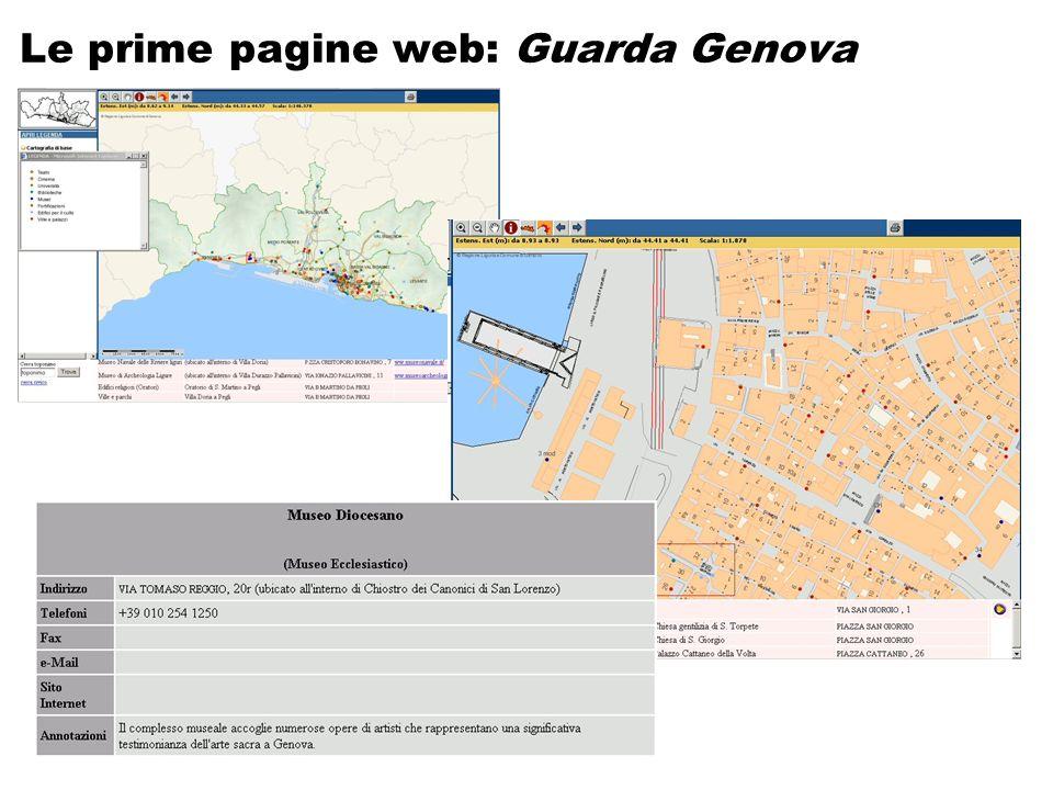 Le prime pagine web: Guarda Genova