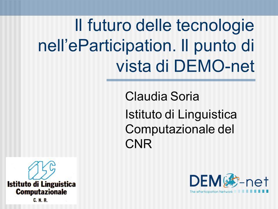 Il futuro delle tecnologie nelleParticipation.