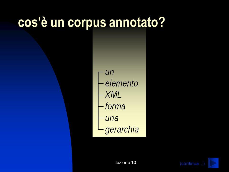lezione 10 cosè un corpus annotato? (continua…)