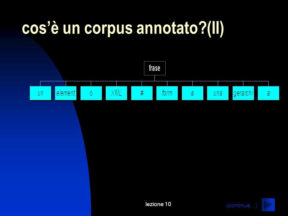 lezione 10 cosè un corpus annotato?(II) (continua…)