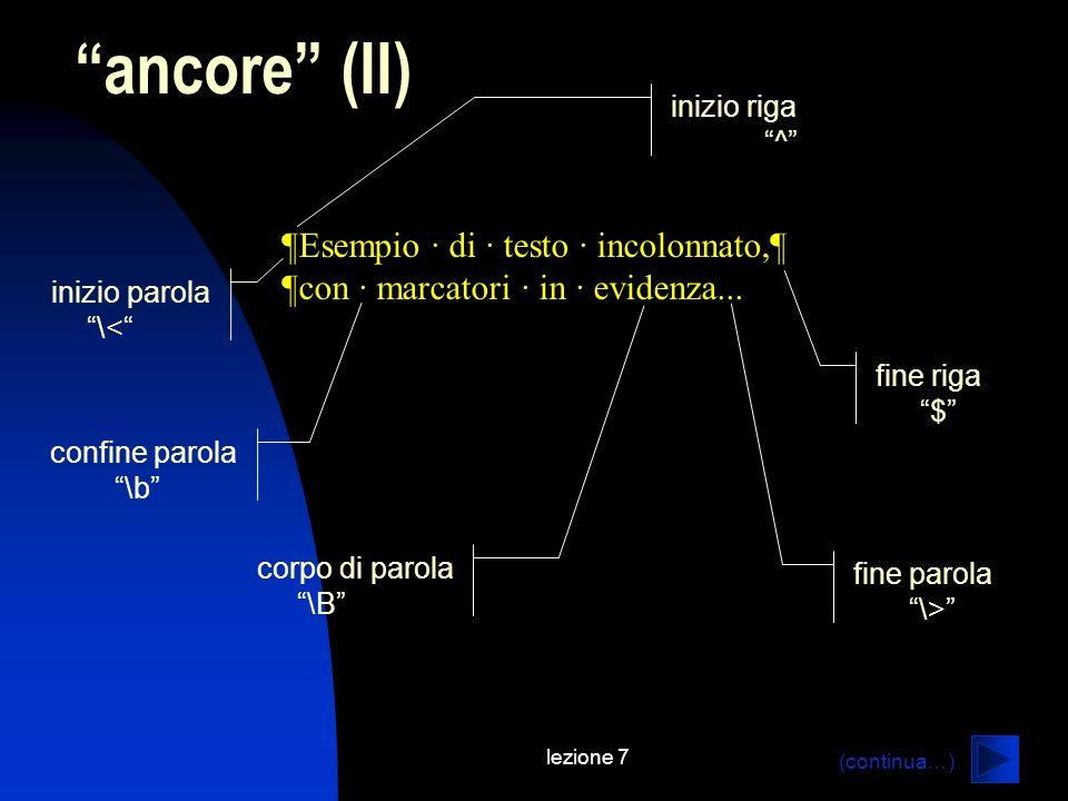 lezione 7 ancore (II) ¶Esempio · di · testo · incolonnato,¶ ¶con · marcatori · in · evidenza...
