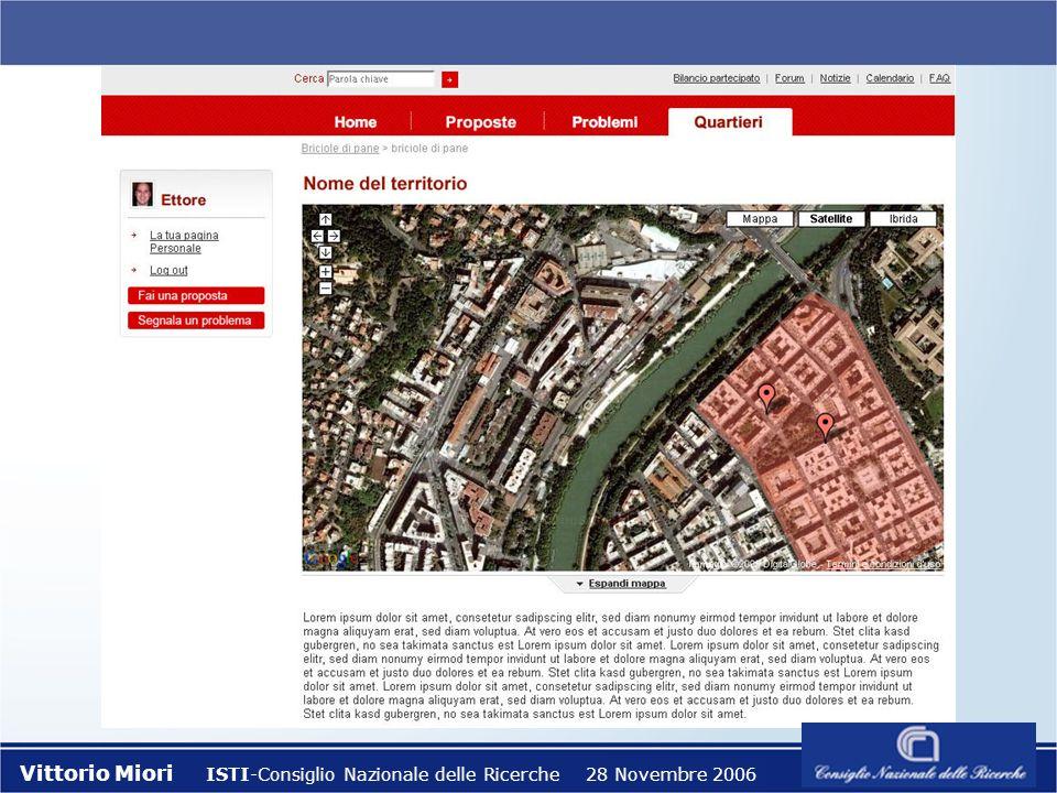 Vittorio Miori ISTI-Consiglio Nazionale delle Ricerche 28 Novembre 2006