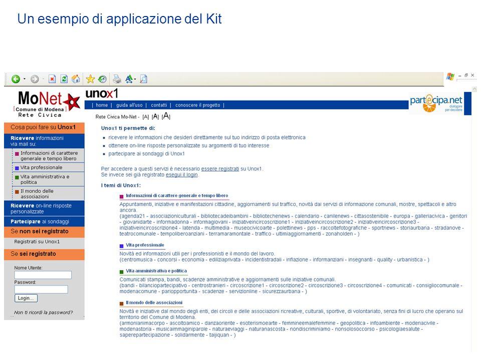 Un esempio di applicazione del Kit