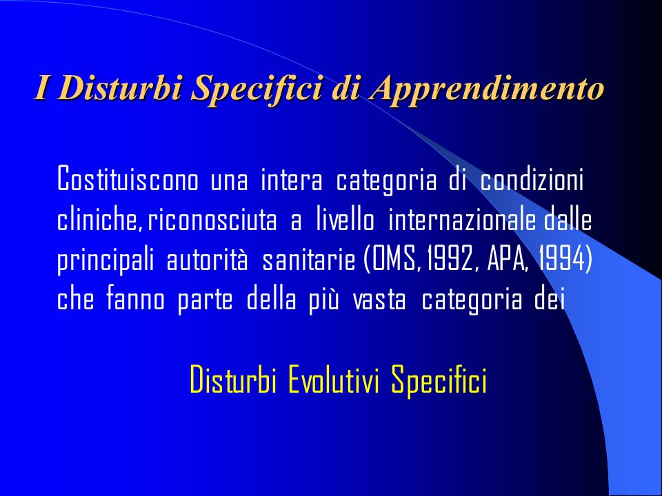 F81- La Dislessia Evolutiva ( definizione della International Dyslexia Association, 2003) La Dislessia Evolutiva è una disabilità specifica dellapprendimento di origine neurobiologica.