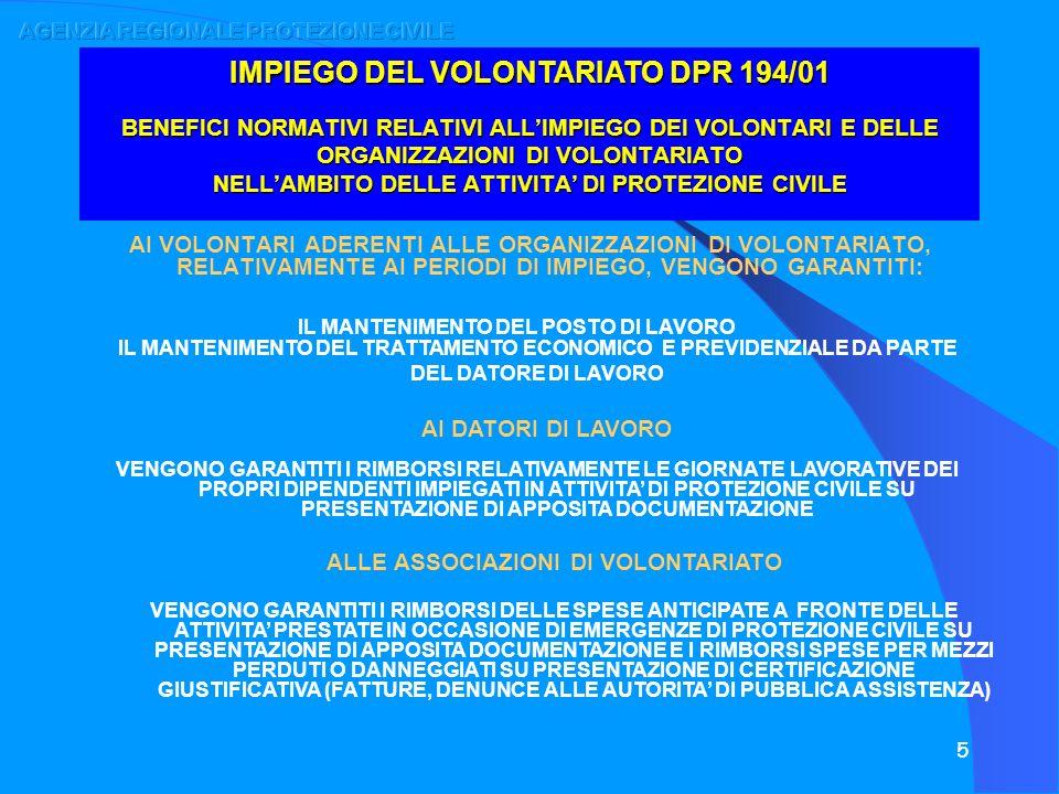 16 RETE INFORMATICA DEL VOLONTARIATO COORDINAMENTI PROVINCIALI ORGANIZZAZIONI REGIONALI DI VOLONTARIATO ASSOCIAZIONI LOCALI GRUPPI COMUNALI SEZIONI PROVINCIALI ORGANIZZAZIONI REGIONALI AGENZIA REGIONALE PROTEZIONE CIVILE C/O CENTRO OPERATIVO REGIONALE SETTORE VOLONTARIATO DATI -COMUNICAZIONI