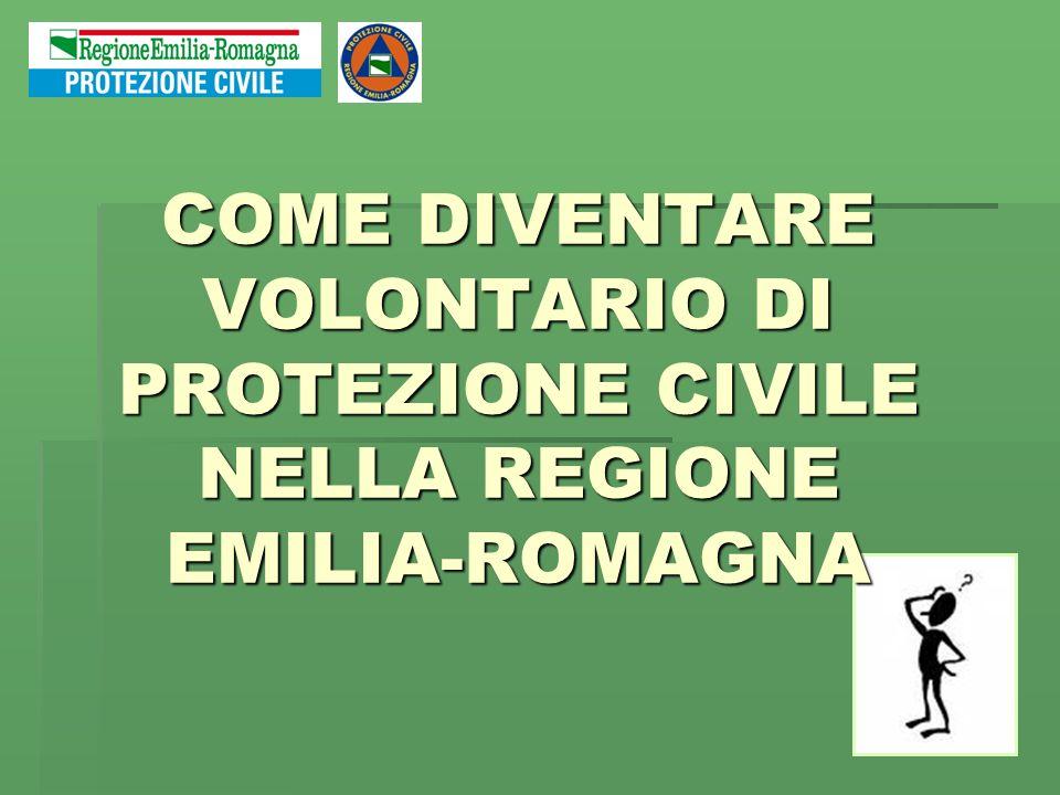 COME DIVENTARE VOLONTARIO DI PROTEZIONE CIVILE NELLA REGIONE EMILIA-ROMAGNA