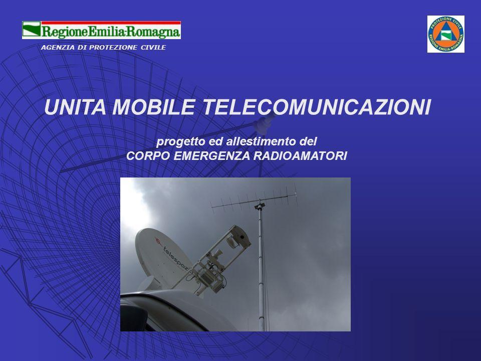 AGENZIA DI PROTEZIONE CIVILE UNITA MOBILE TELECOMUNICAZIONI progetto ed allestimento del CORPO EMERGENZA RADIOAMATORI