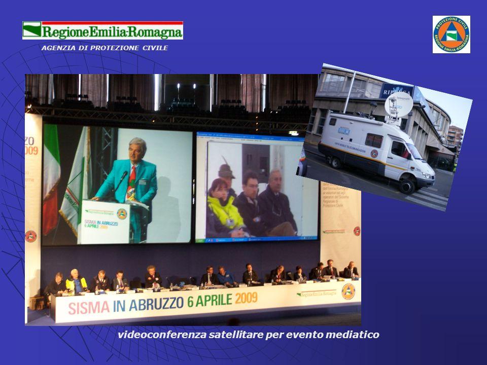 AGENZIA DI PROTEZIONE CIVILE videoconferenza satellitare per evento mediatico