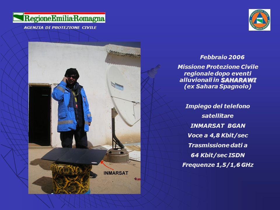 AGENZIA DI PROTEZIONE CIVILE Febbraio 2006 SAHARAWI Missione Protezione Civile regionale dopo eventi alluvionali in SAHARAWI (ex Sahara Spagnolo) Impi