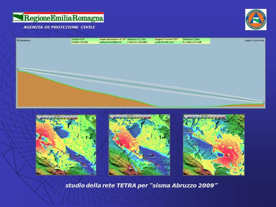 AGENZIA DI PROTEZIONE CIVILE studio della rete TETRA per sisma Abruzzo 2009