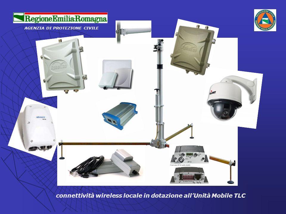 AGENZIA DI PROTEZIONE CIVILE connettività wireless locale in dotazione allUnità Mobile TLC