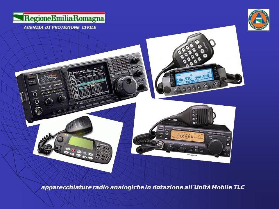AGENZIA DI PROTEZIONE CIVILE apparecchiature radio analogiche in dotazione allUnità Mobile TLC