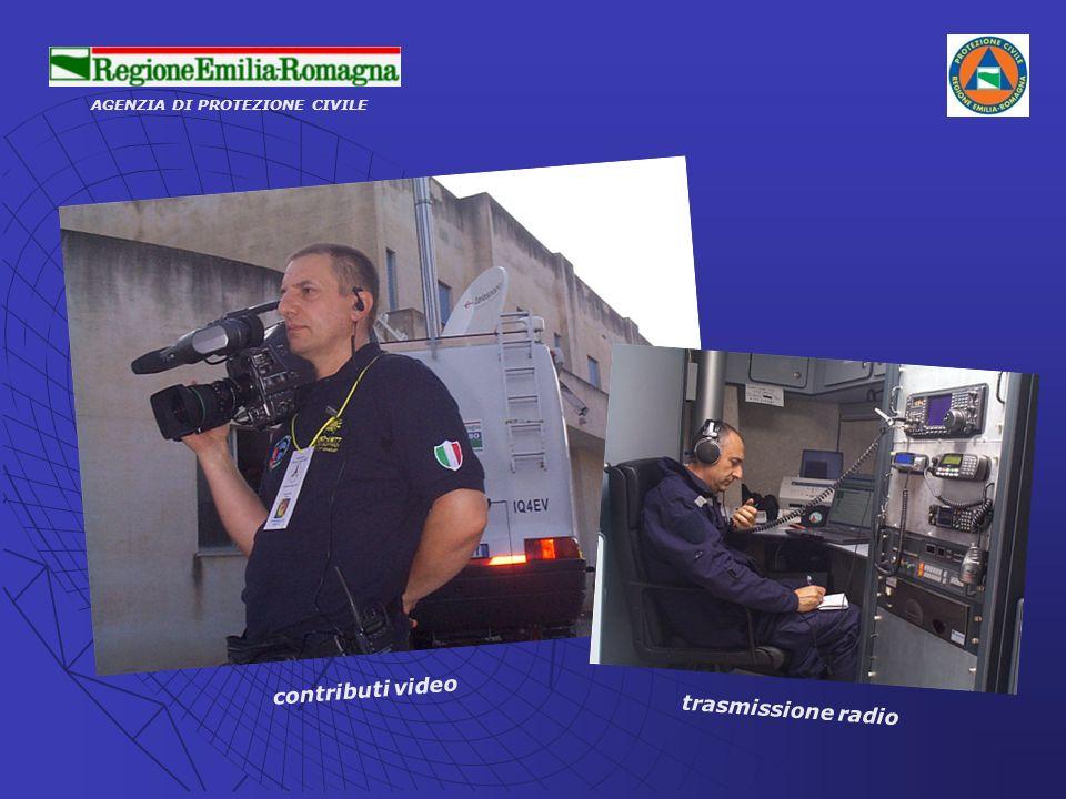AGENZIA DI PROTEZIONE CIVILE contributi video trasmissione radio