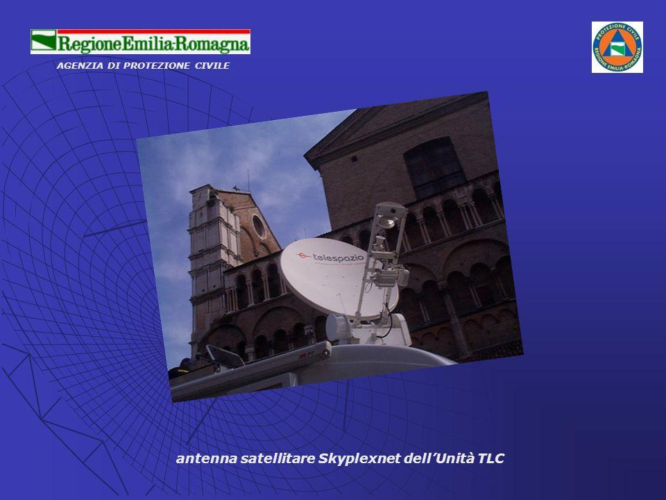 antenna satellitare Skyplexnet dellUnità TLC