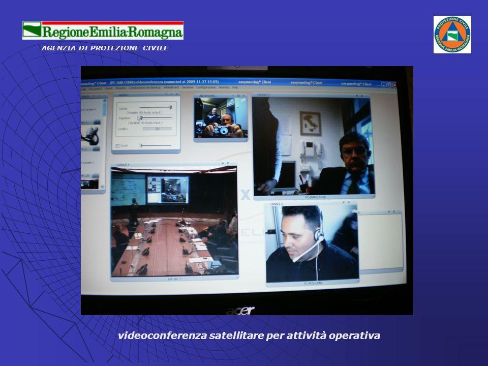 AGENZIA DI PROTEZIONE CIVILE videoconferenza satellitare per attività operativa