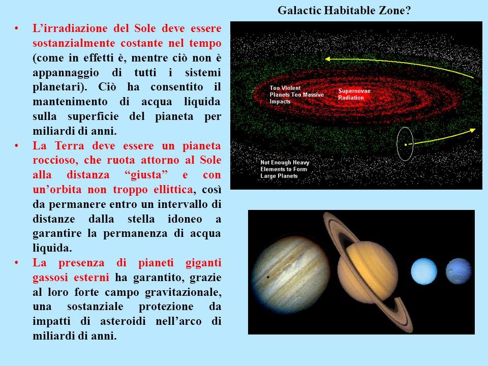 Lirradiazione del Sole deve essere sostanzialmente costante nel tempo (come in effetti è, mentre ciò non è appannaggio di tutti i sistemi planetari).