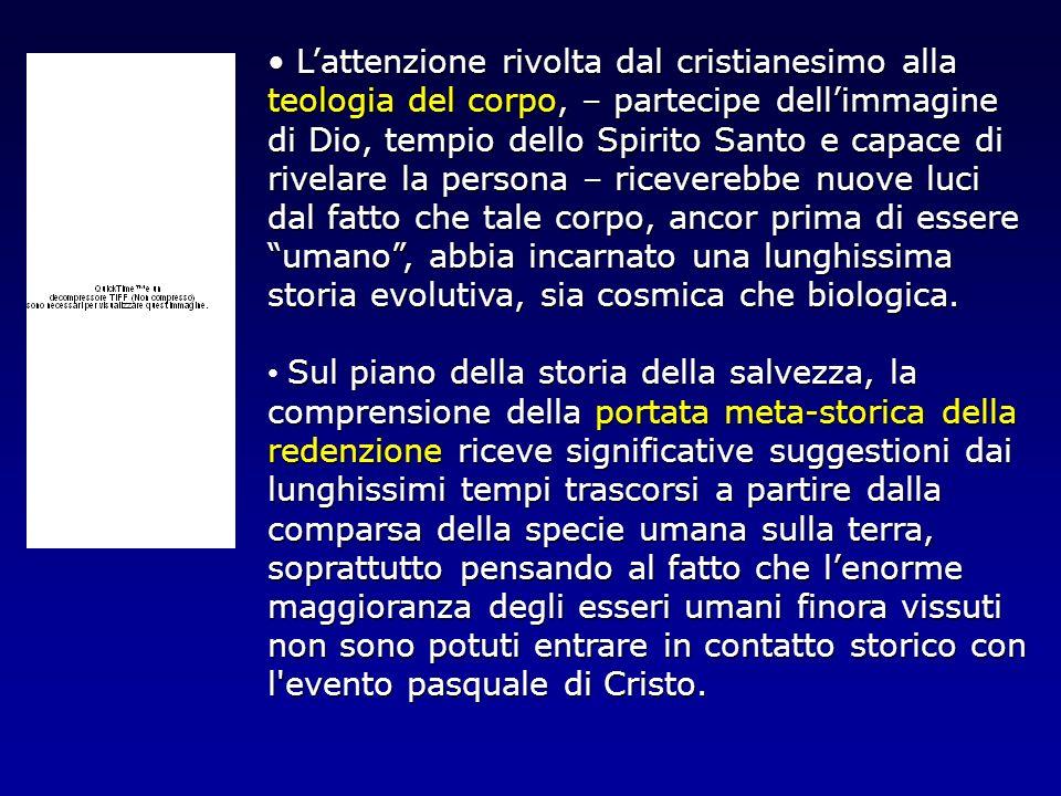 Lattenzione rivolta dal cristianesimo alla teologia del corpo, – partecipe dellimmagine di Dio, tempio dello Spirito Santo e capace di rivelare la per