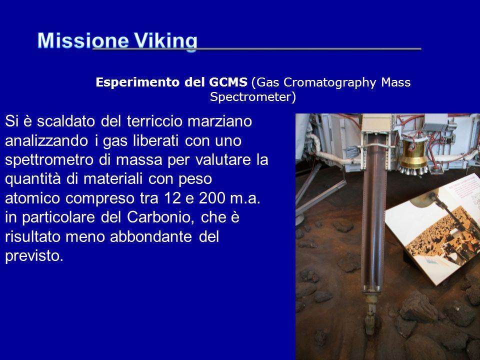 Si è scaldato del terriccio marziano analizzando i gas liberati con uno spettrometro di massa per valutare la quantità di materiali con peso atomico c