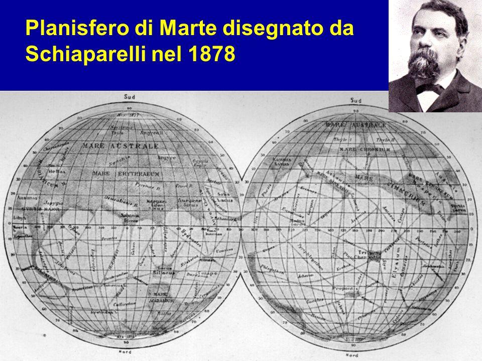 6 febbraio 20146 febbraio 20146 febbraio 2014 La ricerca di vita nell'universo 4 Planisfero di Marte disegnato da Schiaparelli nel 1878